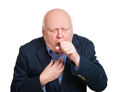 Kranker alter Mann