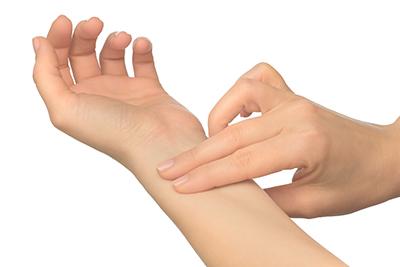 Pulsmesung am Handgelenk